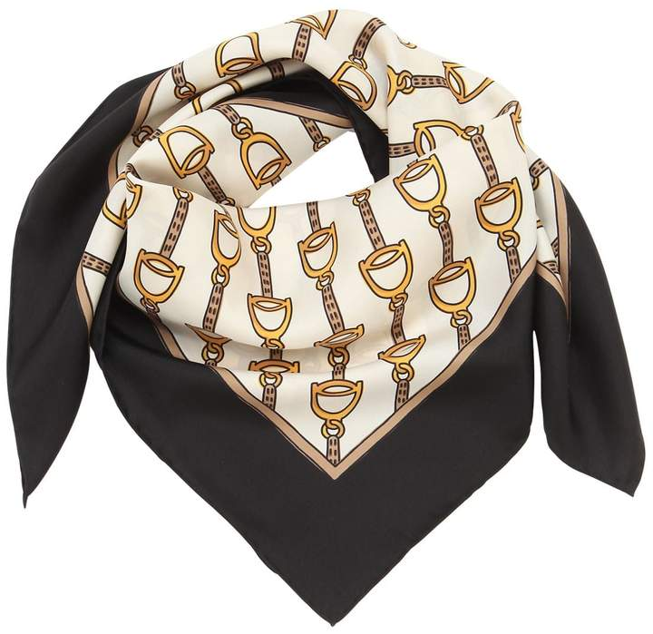 Gucci RAIN STEER PRINT SILK SCARF