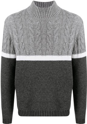 Zanone Colour-Block Virgin Wool Jumper