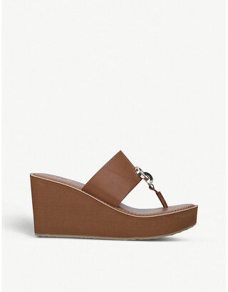 Aldo Dreamer faux-leather wedge sandals
