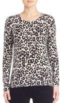 Joie Feronia Leopard Cashmere Top