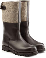 Ludwig Reiter Leather and Wool Felt Boots with Shearling Insole