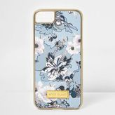 River Island Womens Blue floral print phone case