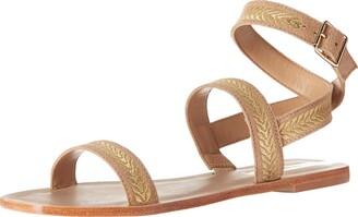 Kaanas Women's Brasilia Roman Embroidered Flat Fashion Sandal