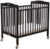 L.A. Baby Compact Wooden Folding Crib W/Pad - Cherry
