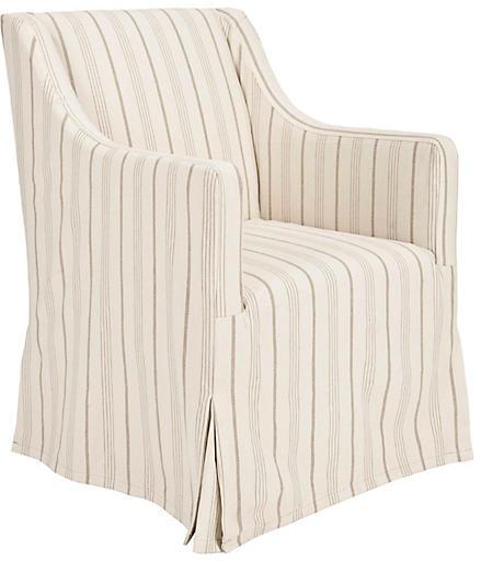 One Kings Lane Suzie Slipcover Chair - Cream Linen