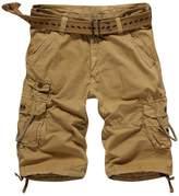 MedzRE-DC MedzRE Men's Straight Leg Summer Cargo Shorts in Cotton