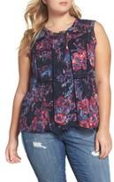 Lucky Brand Plus Size Women's Aubrey Floral Print Tank