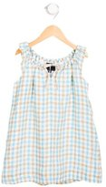 Oscar de la Renta Girls' Linen Plaid Dress