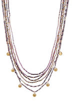 Chan Luu Multi Strand Seed Bead Medallion Necklace