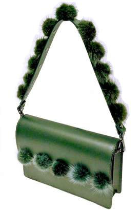 Leather Country Pompom Bag Strap