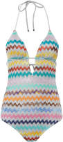 Missoni Mare Chevron Keyhole One Piece Swimsuit