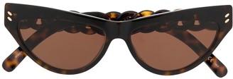 Stella McCartney Cat-Eye Chain Detail Sunglasses
