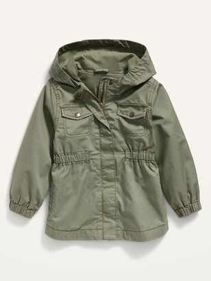 Old Navy Hooded Twill Utility Scout Jacket for Toddler Girls