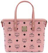 MCM Mini Anya Logo Printed Tote Bag