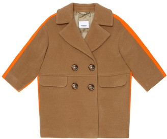 BURBERRY KIDS Technical wool-blend coat