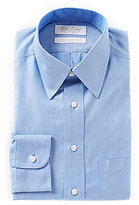 Roundtree & Yorke Gold Label Non-Iron Fitted Classic-Fit Point-Collar Herringbone Dress Shirt