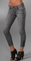 Vivid Zipper Crop Jeans