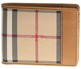 Burberry Camel Check Leather Hipfold Wallet