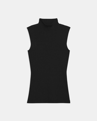 Theory Sleeveless Turtleneck in Compact Crepe