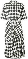 Tome harlequin print shirt dress - women - Cotton - 4