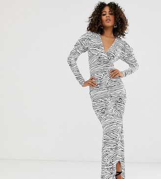 Asos DESIGN Tall mono print maxi dress