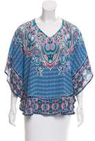 Tolani Oversize Abstract Print Top