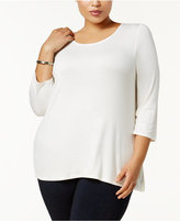 NY Collection Petite Plus Size Scoop-Neck Top