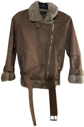 Topshop Tophop Camel Faux fur Jacket for Women