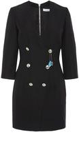 Pierre Balmain Black Tailored Buttoned Mini Dress
