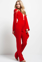 Jovani 49603 Plunging V-neck Jumpsuit