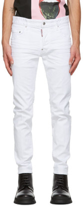 DSQUARED2 White Bull Skater Jeans
