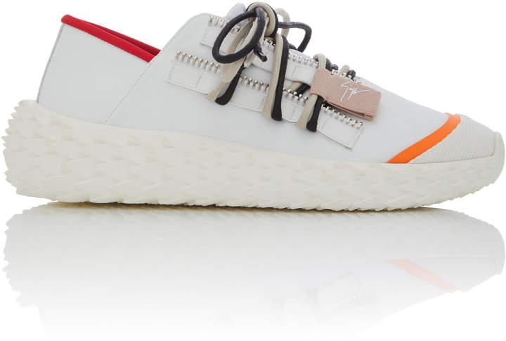 Giuseppe Zanotti Mesh-Trimmed Leather Sneakers