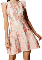 Karen Millen Pretty Devore Dress, White/Multi