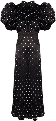Rotate by Birger Christensen Dawn polka dot midi dress