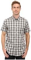 Nautica Short Sleeve Wrinkle Resistant Medium Plaid Shirt