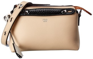 Fendi By The Way Mini Leather Boston Bag