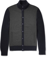 Hackett - Felt-panelled Wool Cardigan