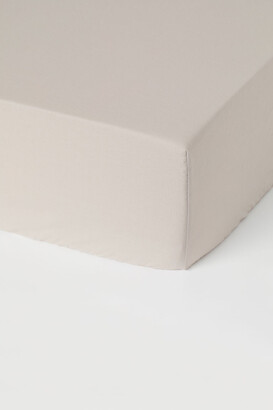 H&M Fitted Cotton Sheet - Brown
