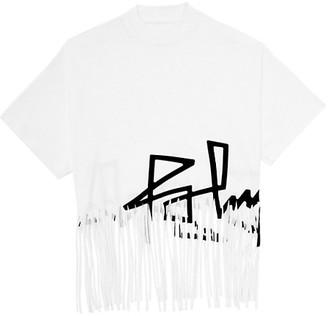 Palm Angels Fringe Desert Logo Cotton T-Shirt