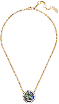 Elizabeth Cole 24-karat Gold-plated, Crystal And Glass Necklace