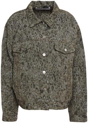 IRO Empathy Leopard-print Linen-blend Canvas Jacket