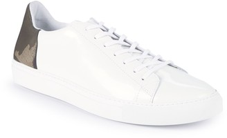 Belstaff Camouflage Low-Top Leather Sneakers