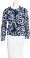 Maje Printed Pullover Sweatshirt
