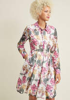 ModCloth Long Sleeve A-Line Shirt Dress with Pockets in 1X