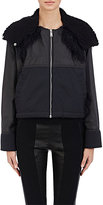 Paco Rabanne Women's Hooded Zip-Front Jacket-BLACK