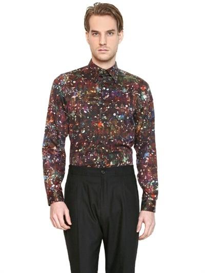 Paul Smith Slim Fit Printed Cotton Poplin Shirt