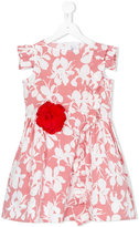 Simonetta corsage floral dress - kids - Cotton - 4 yrs