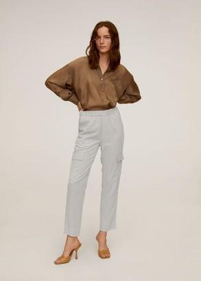 MANGO Modal cargo trousers beige - XS - Women
