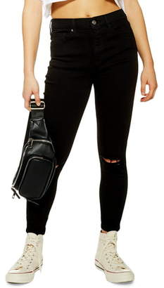Topshop Austin Jame Moto Rip Jeans