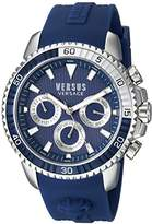 Versus By Versace Men's 'ABERDEEN' Quartz Stainless Steel and Rubber Casual Watch, Color:Blue (Model: S30040017)